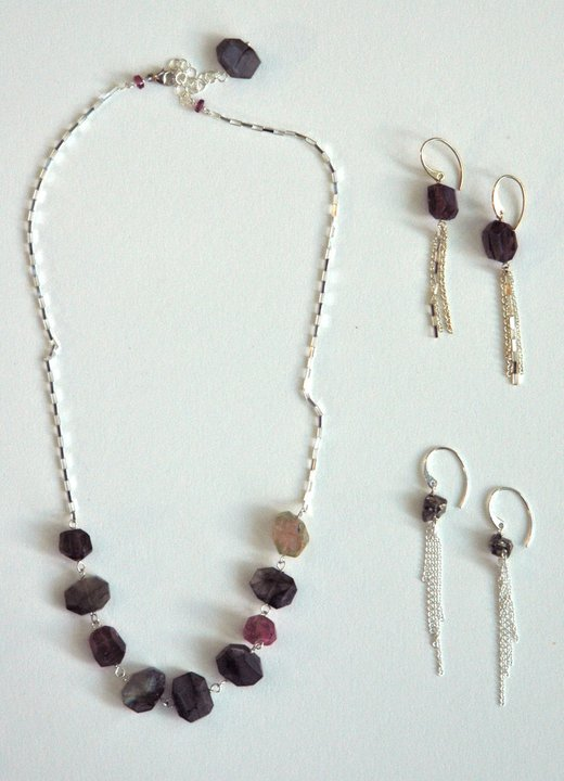 Heather Bell necklace and earrings